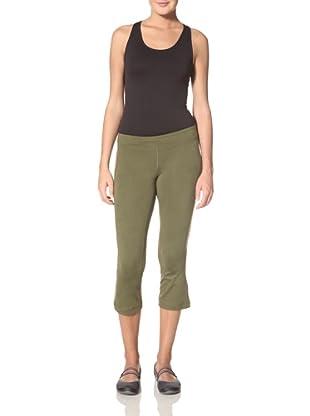 Anue Women's Hawkeye Crop Flare Pant (Dark Olive)