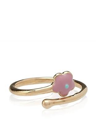 Frida Girl Enamel Flower Ring (Gold/Pink/Turquoise)