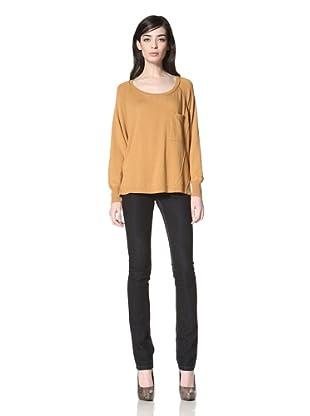 Central Park West Women's Dante Pocket Sweater (Gold)