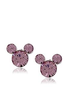 Disney Mickey June Birthstone Earrings, Silver
