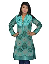 Sai Ruchi Women's Bottle Green Kurti - XX-Large/44