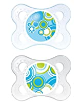 MAM Trends Latex Orthodontic Pacifier, Boy, 0-6 Months