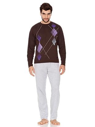 Abanderado Pijama Caballero (marrón oscuro)