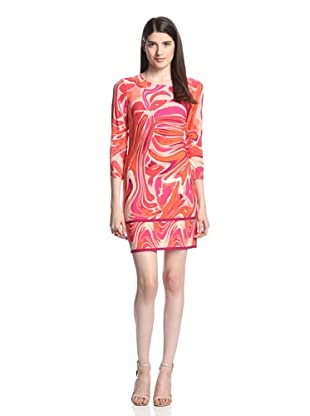 Ali Ro Women's Rihanna Printed Dress (Bright Coral Multi)