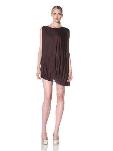 Zero + Maria Cornejo Women's Off The Shoulder Bubble Dress (eggplant)
