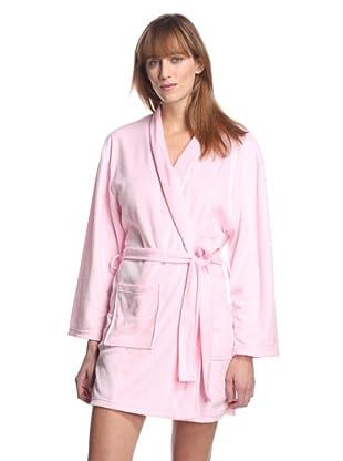 Aegean Apparel Women's Solid Minky Robe (Light Pink)