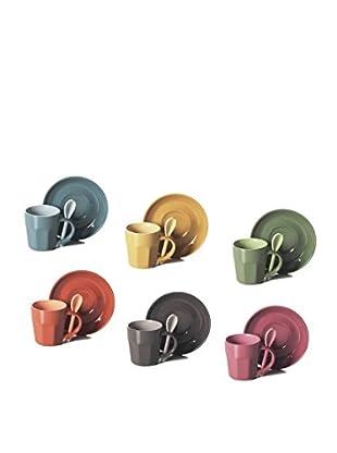 Set 6 Tazze Caffè con Cucchiaino Abbraccio