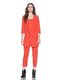 under.ligne by Doo.Ri Women's Jack Convertible Blazer (Red)