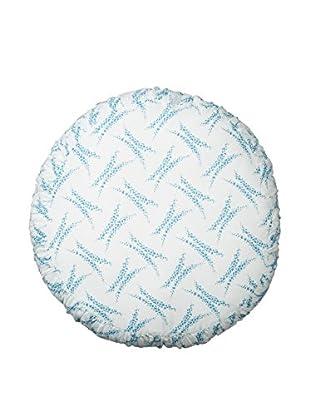 lazybones Thrift Round Pillow Heather White/Blue