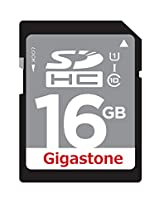Gigastone 16GB Class 10 UHS-1 SDHC Memory Card Up to 45MB/s (GS-SDHCU116G-R)