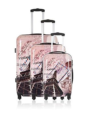 Travel One Set de 3 trolleys rígidos Wickoff