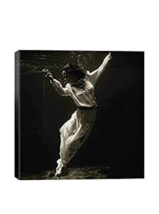 Toni Frissell Fashion Model Underwater In Dolphin Tank (Marineland Florida) Gallery-Wrapped Canvas Print
