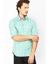 Checks Green Casual Shirt