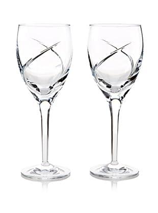 Waterford Pair of Siren White Wine Stems