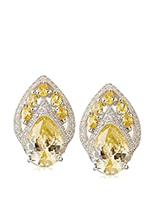 CZ by Kenneth Jay Lane Crown CZ Clip Earrings