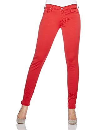 7 for all mankind Jeans The Skinny Colored Gummy (Tango Red)