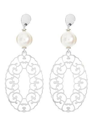 Le Perla di Emi Kaway Pendientes Abrielle Plata Perla 8-8.5 mm