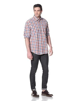 Façonnable Tailored Denim Men's Popline Plaid (Red White Blue)