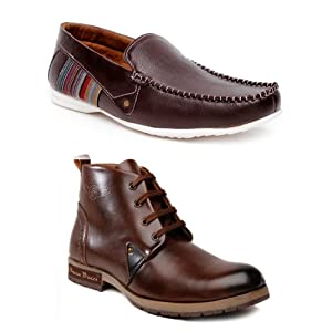 Bacca Bucci Men Boots And Loafers Combo Skel4100loas2150