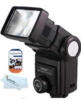 Vivitar 285HV Flash for Nikon D3200 D800 D800E D7000 D5100 D3100 D3000 D5000 D3 D700 D300 D300S D200 D90 D60 D70 D50 + Free LCD Screen Prrotectors