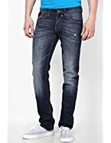 Washed Blue Slim Fit Jeans Web Jeans