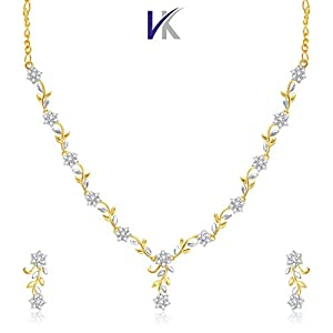 V. K. Jewels Golden Brass Mangalsutra For Women Vknks1001G