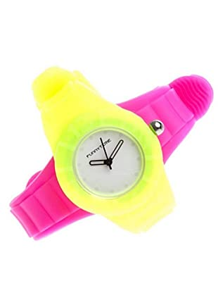 Funny Time Reloj Con Correas Intercambiables Amarillo / Fucsia