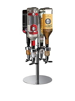 Final Touch 4-Bottle Bar Caddy Dispenser