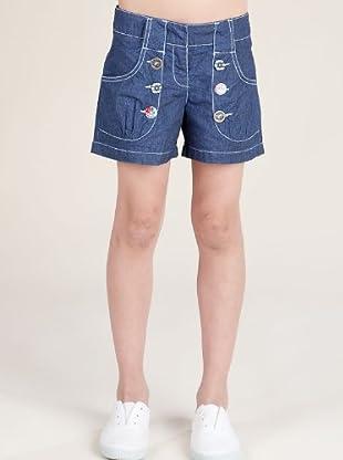Kenzo Kids Short Vaquero Botones (azul marino)