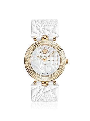 Versace Women's VK7060013 Vanitas Diamond & White Leather Watch
