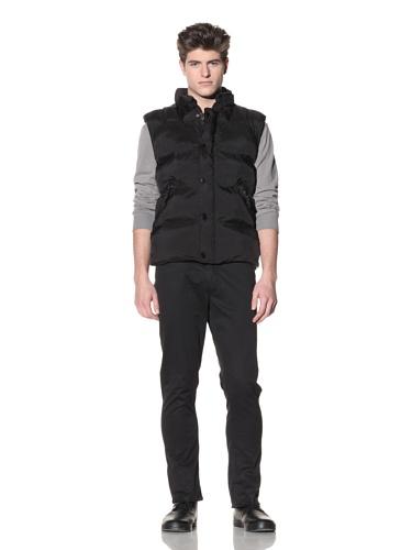 Projek Raw Men's Nylon Puffer Vest (Black)