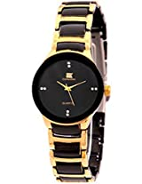 IIK Collection Analogue Round Black Dial WOMEN's Watch-IIK1002W