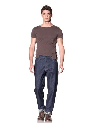 Maharishi Men's Mountain Embroidery Custom Fit Jeans (Blue)