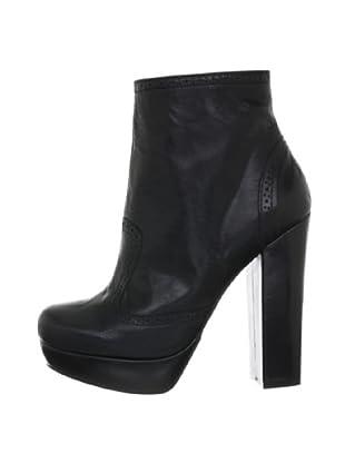 Buffalo London 10940-223 SANDY SPORT CAMBRIGE 139047 - Botines fashion de cuero para mujer (Negro)