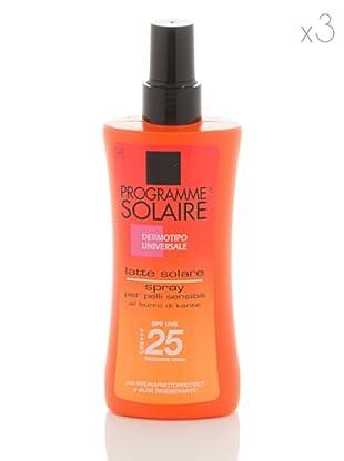Programme Solaire Set 3 Pezzi Latte Solare Spray Spf 25 150 ml cad.