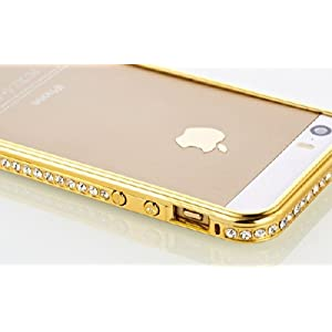 iAccessorize Luxury Metal Bumper Case Cover For Apple iPhone 5/5S (Gold)