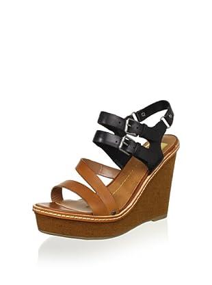DV by Dolce Vita Women's Jobin Wedge Sandal (Cognac/Black)