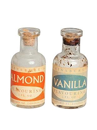 Mili Designs Set of 2 Vanilla And Almond Jars, Clear