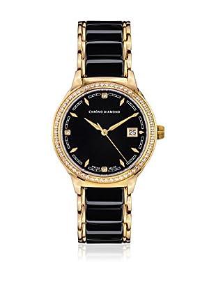 Chrono Diamond Reloj con movimiento cuarzo suizo Woman 10410F Thyrsa 34 mm
