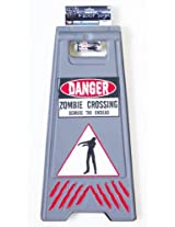 Forum Novelties Zombie Crossing Sign and Tape Halloween Decoration Prop