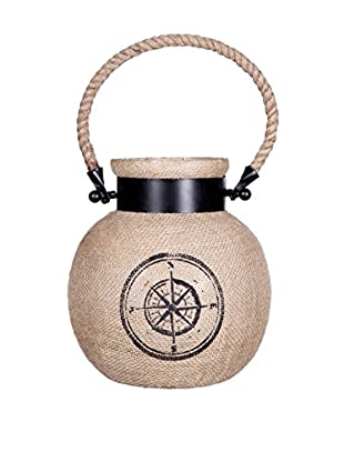 Home Essentials Plymouth Lantern with Compass Design