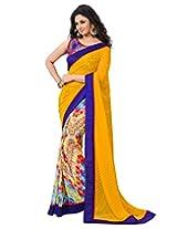 Shoppingover Saree (Yellow)