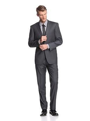 Renoir Men's Slim Fit Pinstripe Suit (Charcoal)