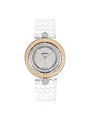 Versace Women's 79Q91OFD91F S001 Eon Diamond, Rose Gold & White Leather Watch