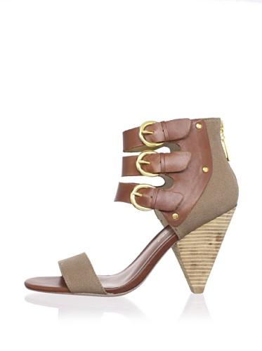 Matt Bernson Women's Cortez 3-Strap Sandal (Olive)
