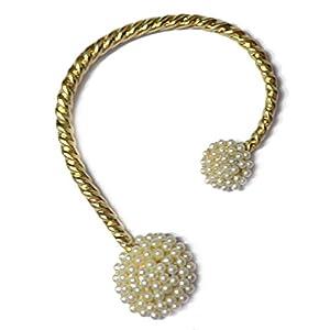 Via Mazzini Pearl Cuff-Wrap Earring For Left Ear