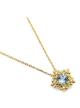 Melin Paris Collar White and Blue Topaz Dorado