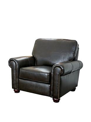Abbyson Living London Top Grain Leather Armchair, Dark Truffle