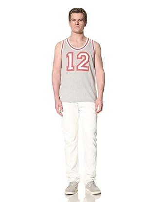 GANT by Michael Bastian Men's The M.B. Mesh Basketball Tank (Light Grey Melange)