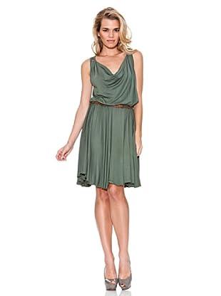 Guess Vestido Trenzas (Verde Musgo)